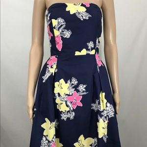 Lilly Pulitzer Navy Lady Loves Strapless Dress